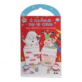 Colour-In Pop-Up Christmas Card Pack