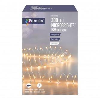 Premier 300 Microbrights Vintage Gold LED Timer Lights