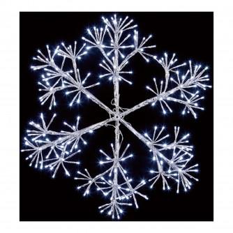 Premier 60cm Silver Starburst Snowflake LED Decoration