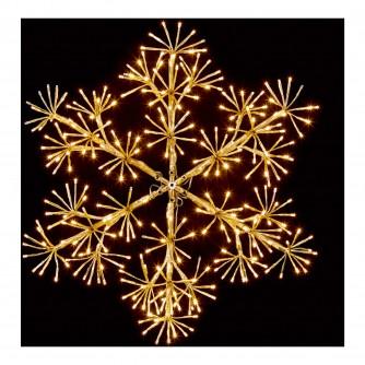 Premier 90cm Gold Starburst Snowflake LED Decoration