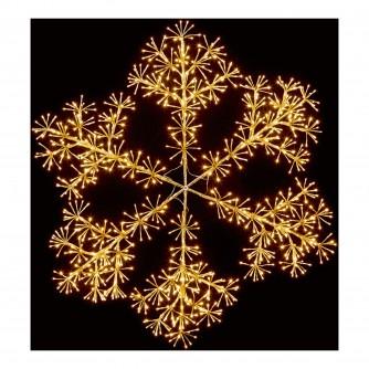 Premier 1.2m Gold Starburst Snowflake LED Decoration