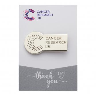Cancer Research UK Silver Pin Badge