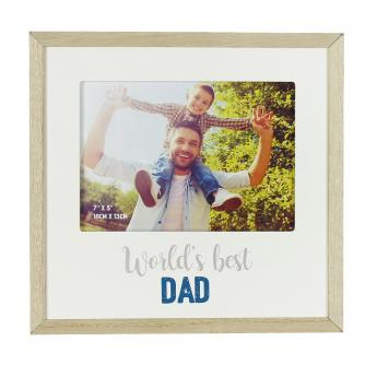 Cancer Research UK Online Shop, Father's Day Gifts, World's Best Dad Frame