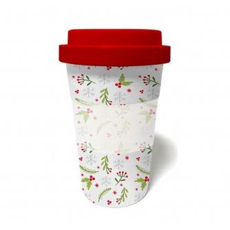 Festive Foliage Bamboo Travel Mug