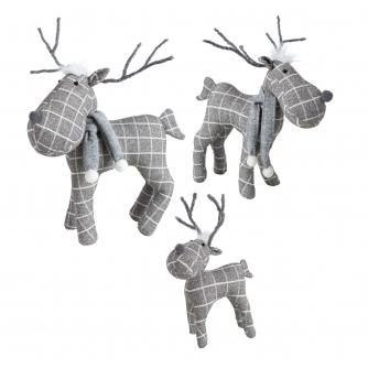 Festive Grey Checked Reindeer Bundle