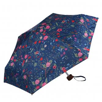 Pink and Blue Floral Bird Print Umbrella