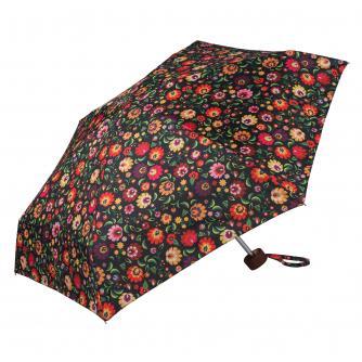 Orange Floral Print Umbrella