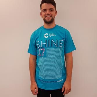 Shine Night Walk Full Marathon Participant T-shirt – First Names A-J