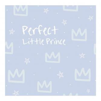 Perfect Little Prince New Baby Greetings Card