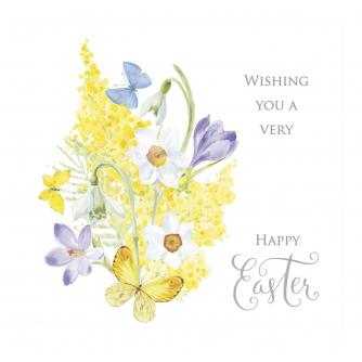 Floral Illustration Easter Cards - Pack of 6