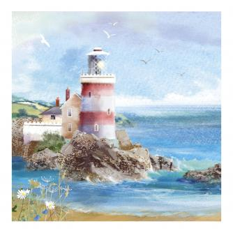 Illustrative Lighthouse Greetings Card