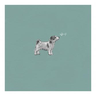 Tiny Woofer Greetings Card