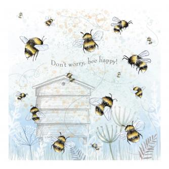 Don't Worry Bee Happy Greetings Card