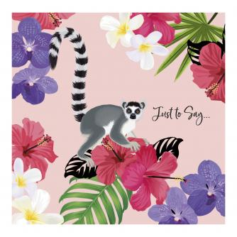 Lovely Lemur Celebration Greetings Card
