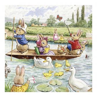 Fun On The River Greetings Card