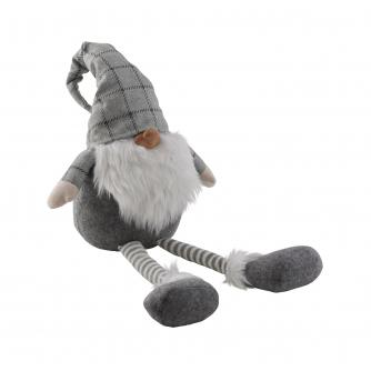 Grey Festive Fabric Gnome