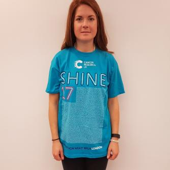 Shine Night Walk Half Marathon Participant T-shirt – First Names A-J