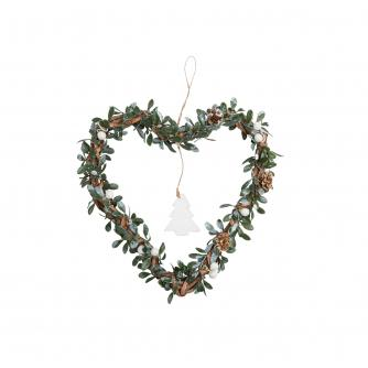 Hanging Mistletoe Heart Wreath