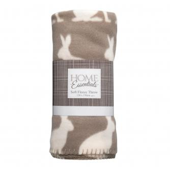 Hare Fleece Throw