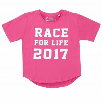 Race For Life  2017 Kids Varsity T-Shirt Cancer Research UK
