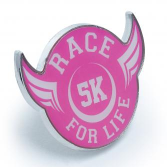 Race For Life  2017 5k Pin Badge Cancer Research UK