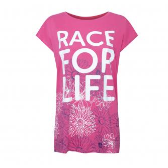 Race for Life Floral T-shirt, Sizes 18-32