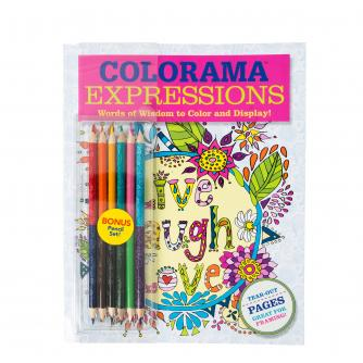 JML Colorama Expressions Live Laugh Love Colouring Book