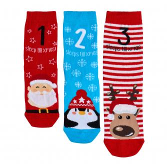 Kids Christmas Socks - Pack of 3