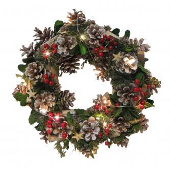 LED Festive Foliage Christmas Wreath