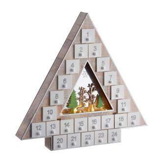 LED Wooden Christmas Tree Advent Calendar