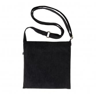 Cancer Research UK Online Shop Cross Body Drain Bag in Black Corduroy