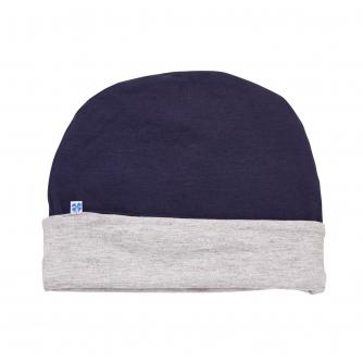 Hipheadwear Mens Reversible Beanie in Navy/Grey