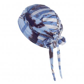 Hipheadwear Jersey Knot Headwrap in Blue Fern Print