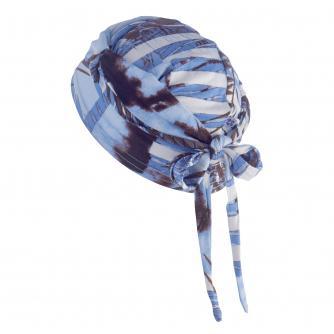Hipheadwear Jersey Knot Headwrap in Blue Fern Print