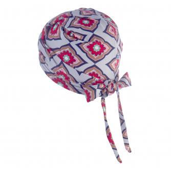 Hipheadwear Jersey Knot Headwrap in Diamond Flower Print