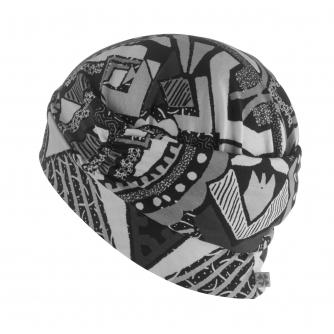 Hipheadwear Turban Cap in Urban Abstract Print
