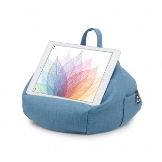 iBeani Blue Denim Tablet Bean Bag Stand