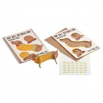 Pop Out Sausage Dog Greeting Card