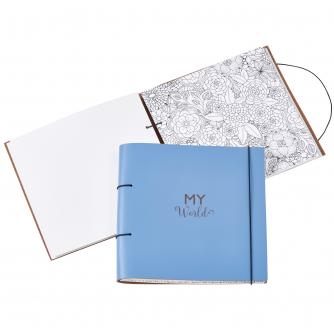 Artbox Recycled Leather Planner and Scrapbook in Sky Blue
