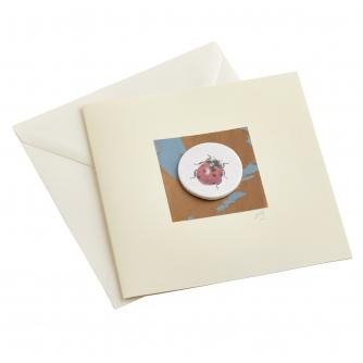 CB Ceramics Ladybird Button Greetings Card