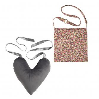 2 Piece Mastectomy Gift Collection, Grey Velvet & Flower Print