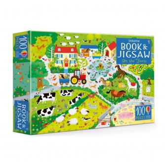 Usborne Book and Jigsaw: On the Farm