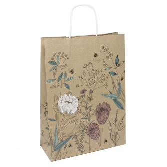 Eco Nature Sustainable Bumblebee Floral Gift Bag