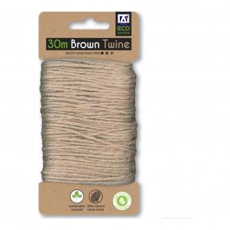 Eco 30m Brown Hemp Twine