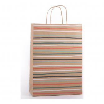 Eco Striped Gift Bag