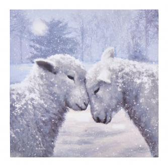 Lambs In Winter Christmas Cards - Pack of 10