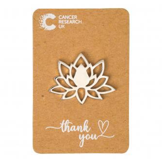 Lotus Flower Pin Badge