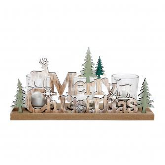 Merry Christmas Tealight Holder