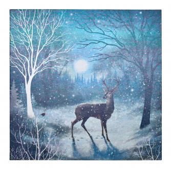 Moonlit Stag Christmas Cards - Pack of 20