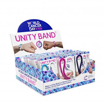 Unity Band Fundraising Box, World Cancer Day, #ActofUnity